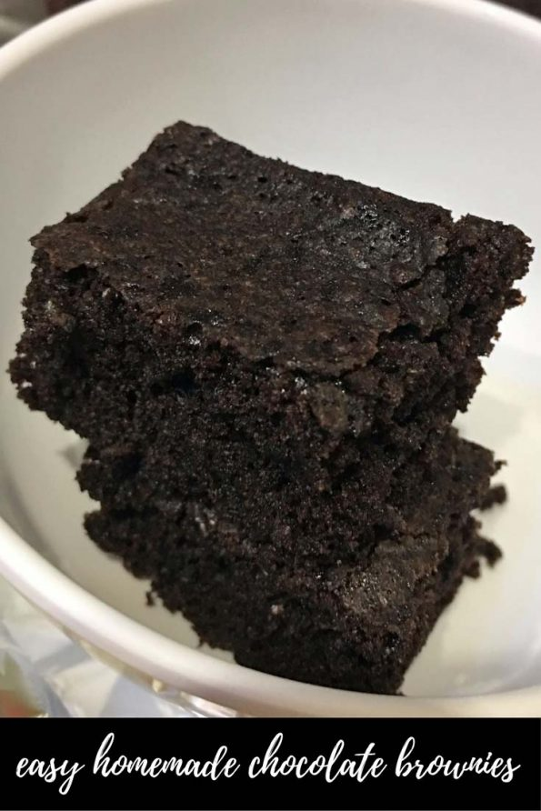 easy homemade chocolate brownies from scratch
