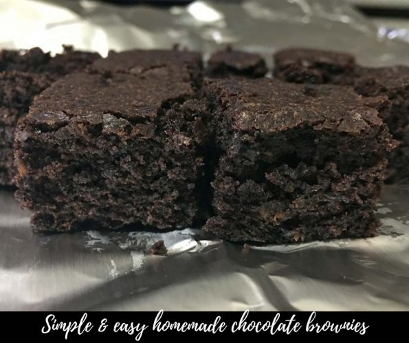 easy homemade chocolate brownies recipe from scratch