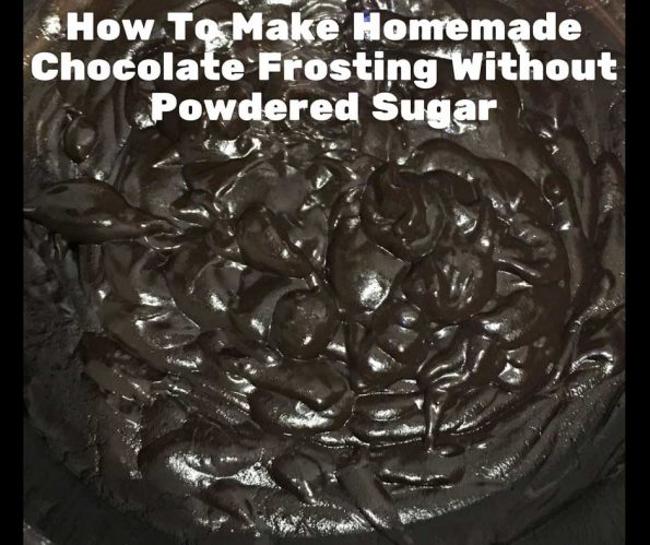 homemade chocolate frosting without powdered sugar