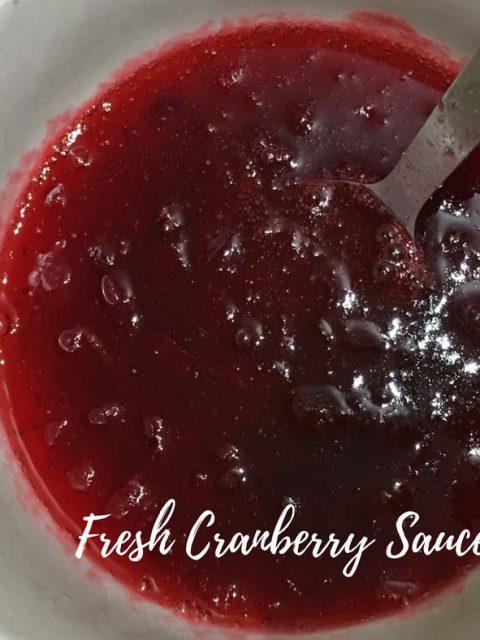 quick easy cranberry sauce recipe