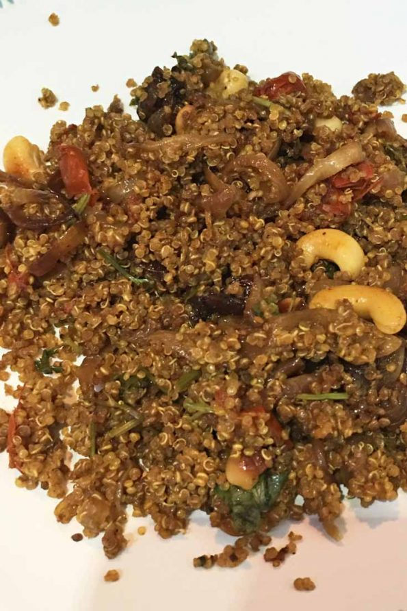 quinoa biryani recipe without white rice