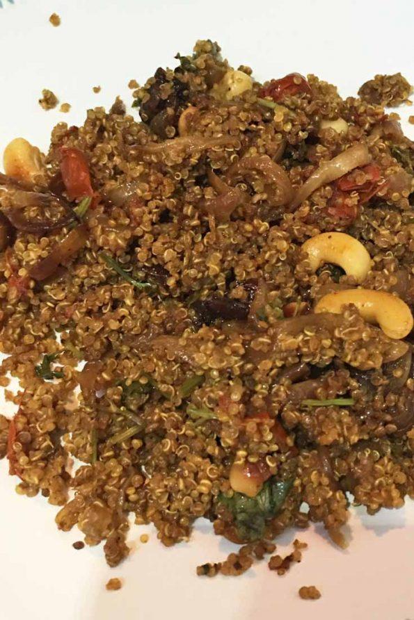 quinoa biryani recipe without white rice