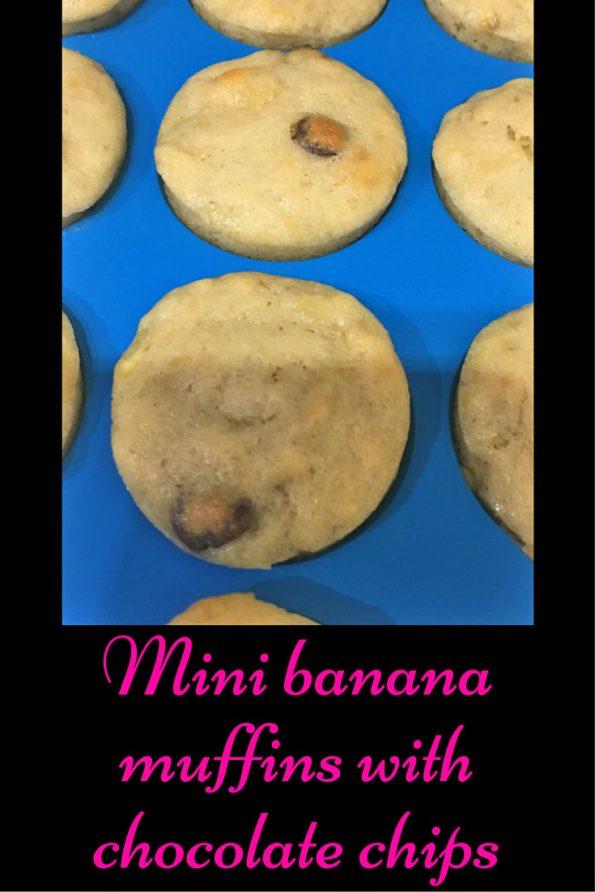 Mini Banana Chocolate Chip Muffins Recipe In Silicon Mini Muffin Pans