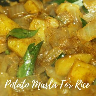 Potato Masala For Rice – Potato Masala With Onions (Without Coconut Milk) For Rice