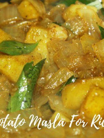 Potato Masala For Rice