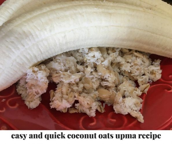 coconut oats upma indian recipe