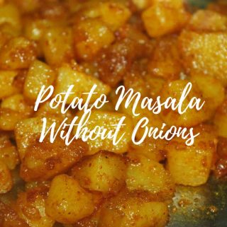 dry potato masala without onions