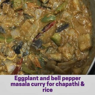 capsicum curry for chapathi