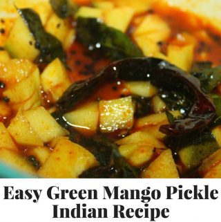 Green Mango Pickle recipe – Instant South Indian Kerala Style Green Mango Pickle Recipe For Rice