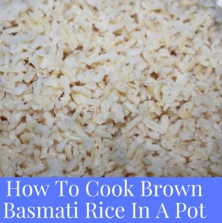 how to cook brown basmati rice in a pot