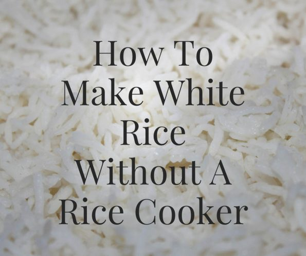 how to make white rice without rice cooker