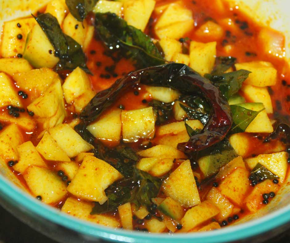 indian green mango pickle recipe