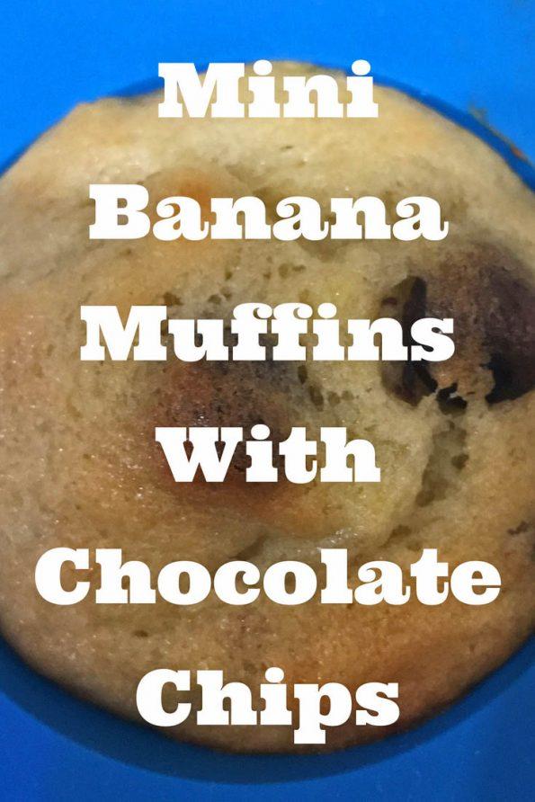 mini banana chocolate chips muffins recipe