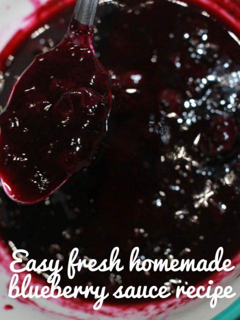 easy homemade blueberry sauce recipe