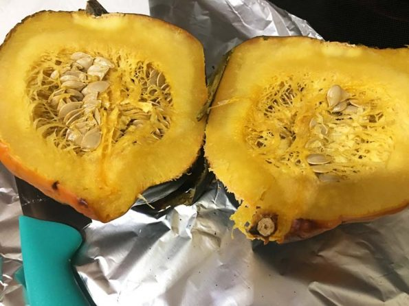 acorn squash roasted halves