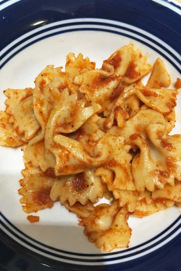 bow tie pasta recipe without cheese