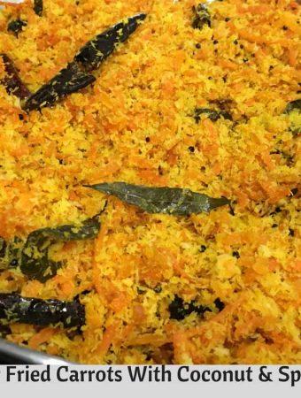 carrot thoran Kerala style recipe