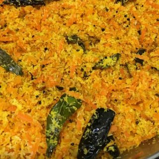 carrot thoran recipe kerala style