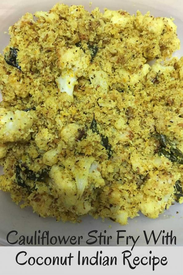 cauliflower thoran Kerala style recipe Indian