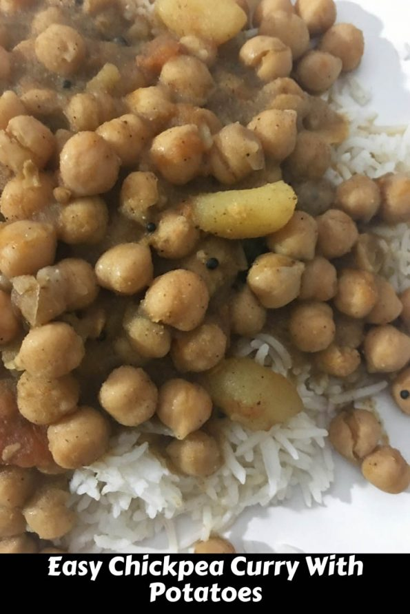 chickpea curry with potatoes