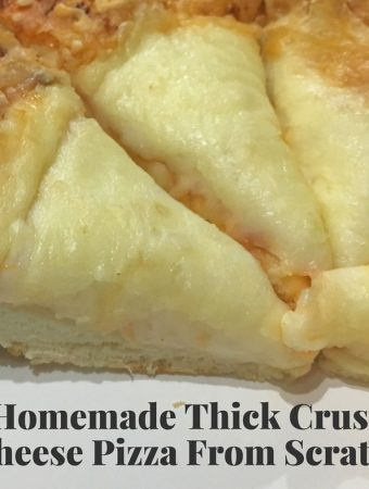 easy cheese pizza recipe using thick crust dough