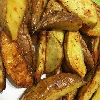 oven roasted potato wedges recipe