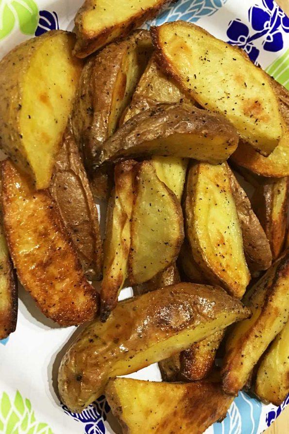 easy oven roasted potato wedges recipe