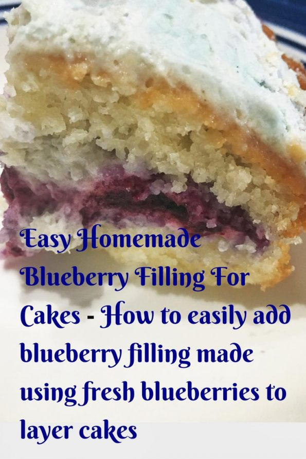 how to make blueberry filling for cake