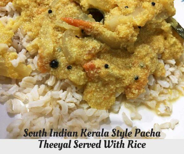 pacha theeyal recipe south indian
