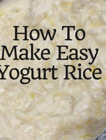 prepare yogurt rice