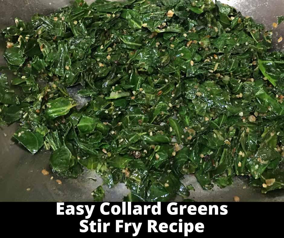 quick collard greens vegetarian recipe