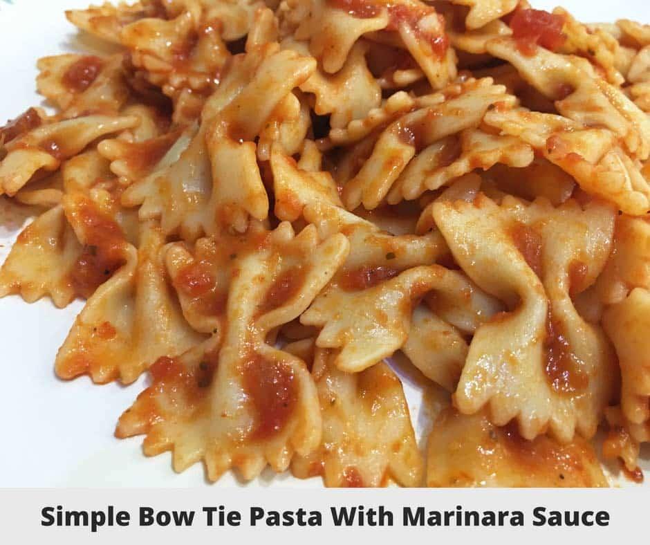 simple bow tie pasta recipe