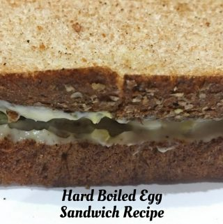 Hard Boiled Egg Sandwich Recipe with mayo