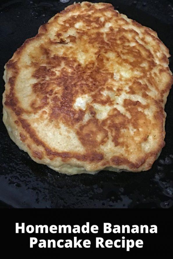 Homemade Banana Pancake Recipe