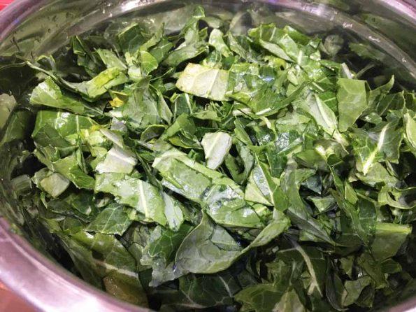 collard greens chopped