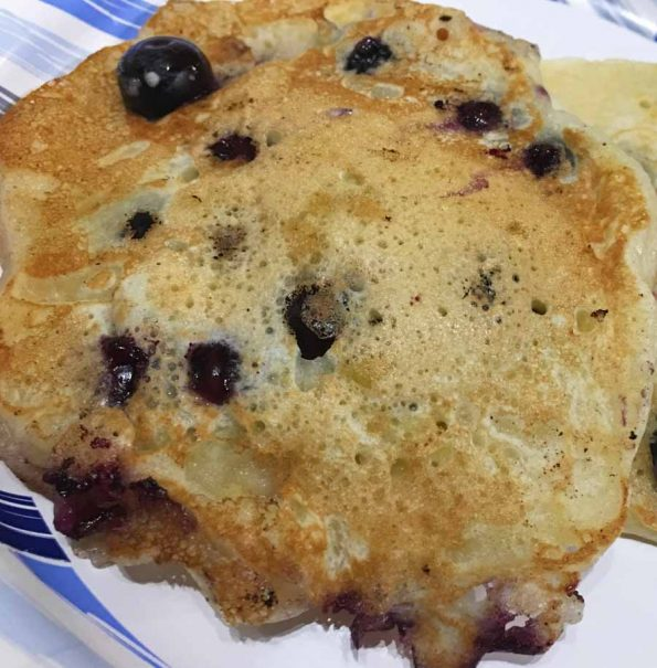 fresh blueberry pancakes without eggs