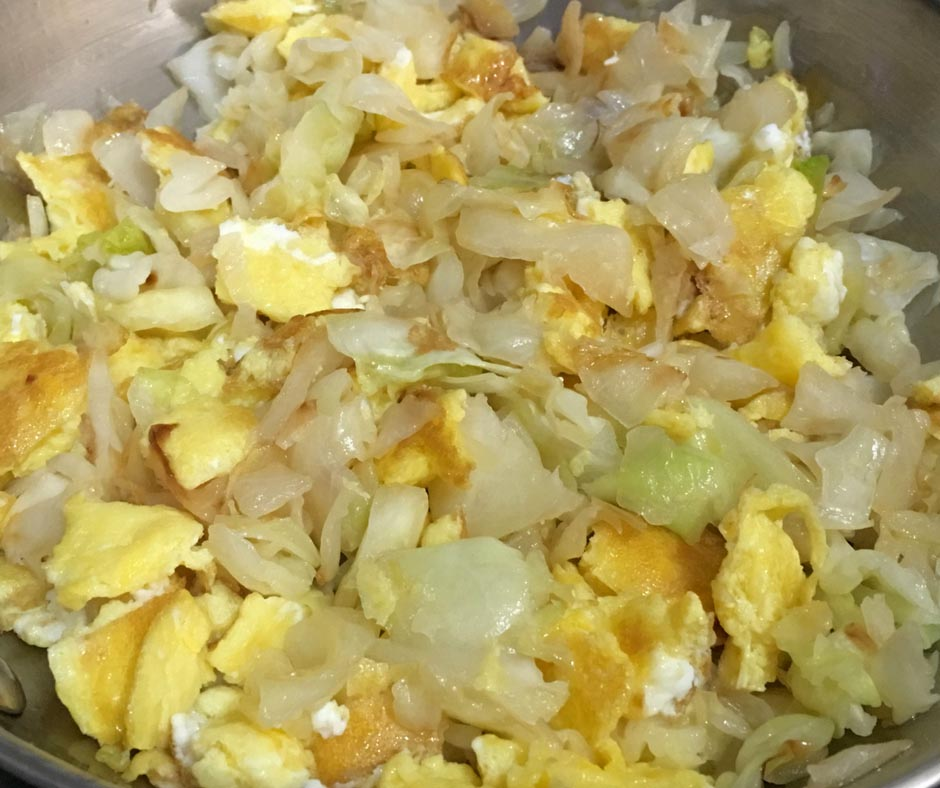 cabbage and eggs breakfast recipe