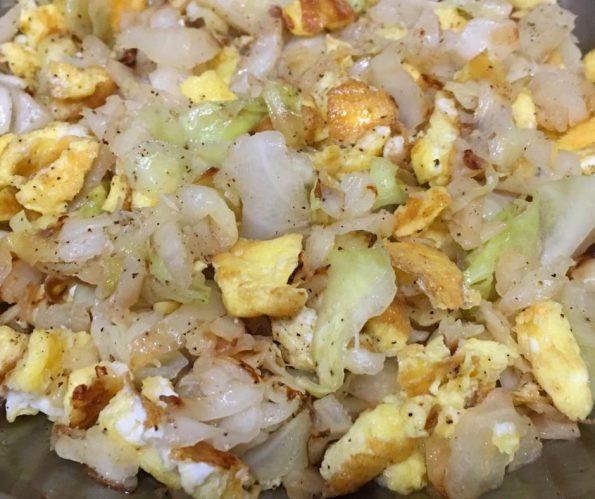 cabbage and eggs breakfast scramble recipe