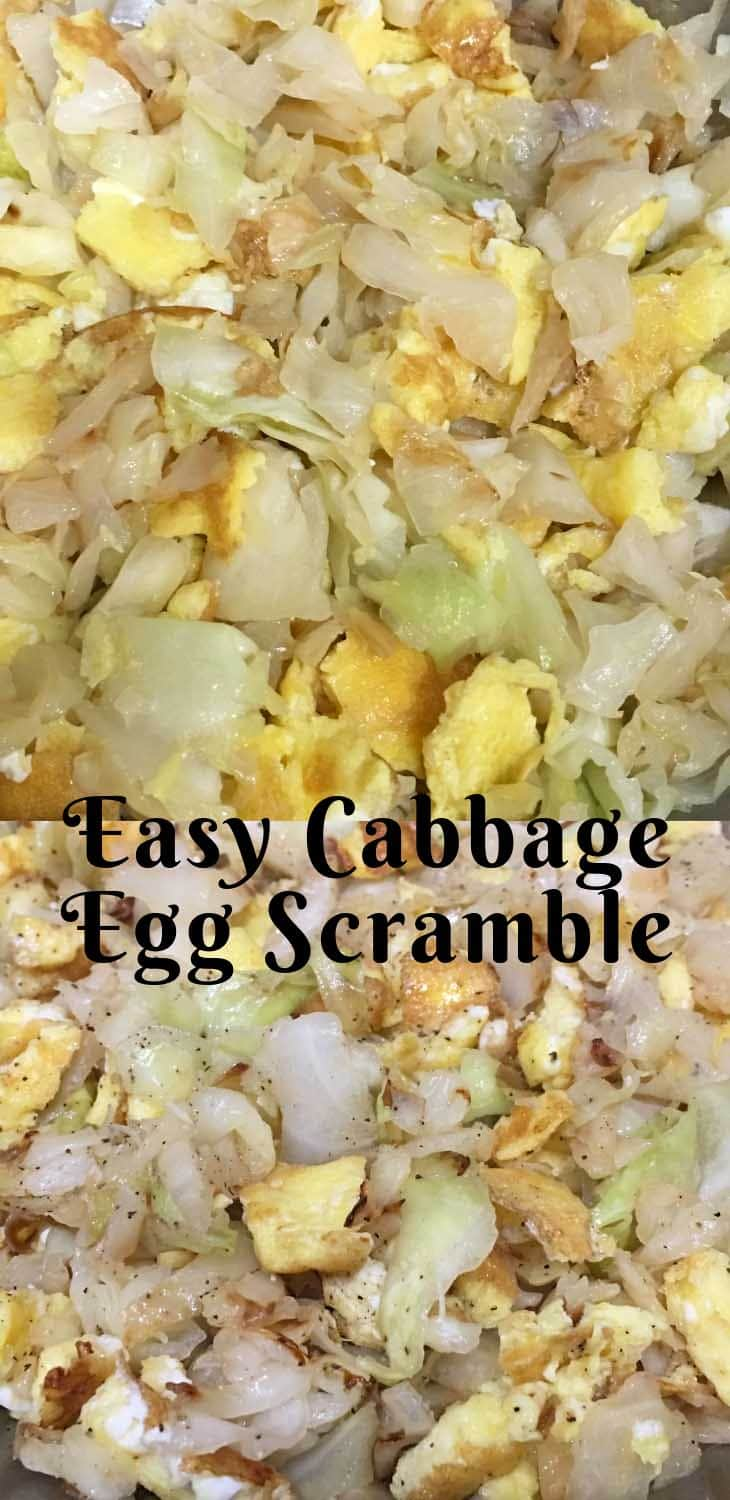 cabbage and eggs breakfast scramble