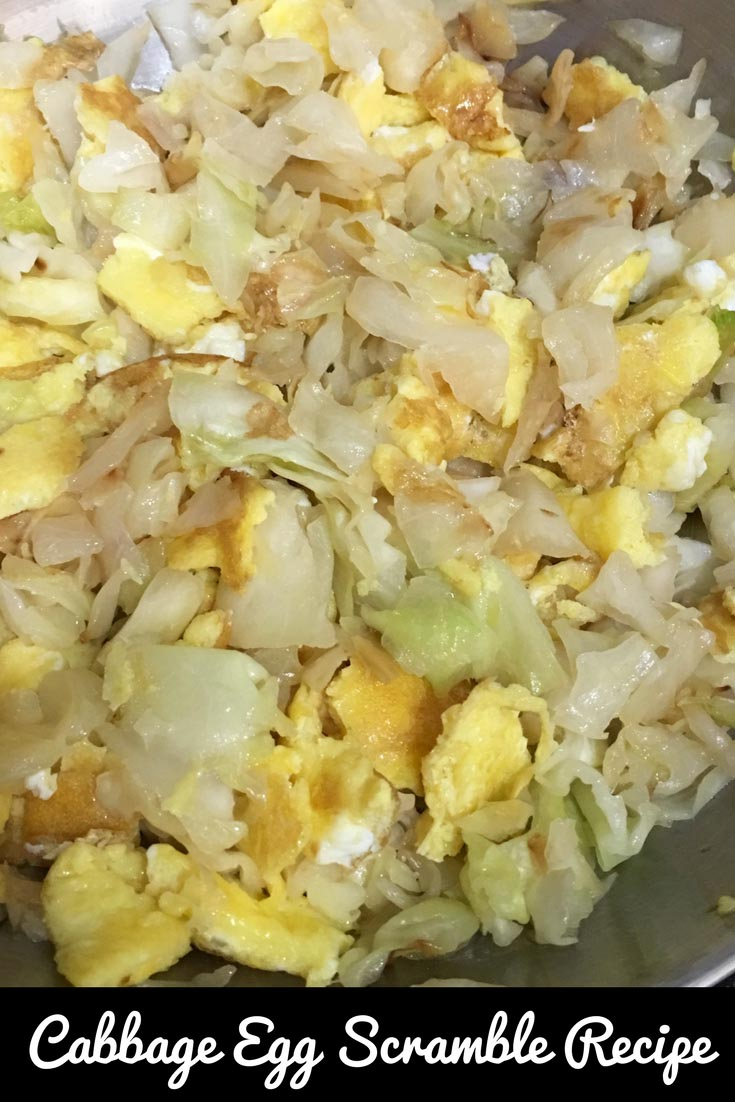 cabbage and eggs breakfast