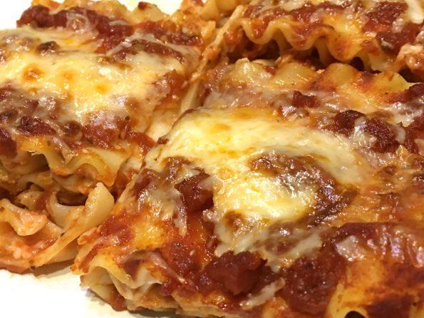 lasagna noodles baked sliced