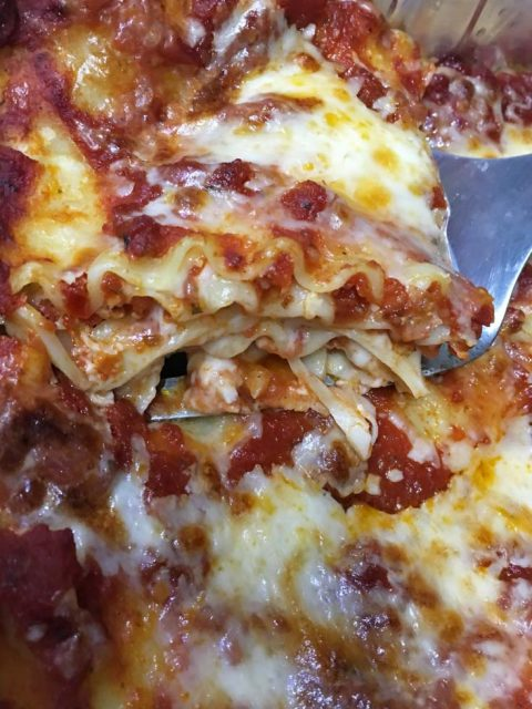 easy lasagna recipe without ricotta cheese or cottage cheese