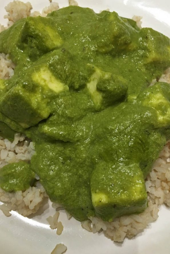 palak paneer for rice