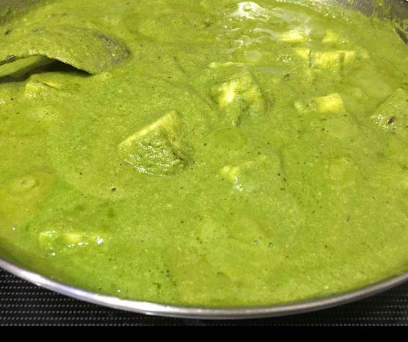 punjabi palak paneer recipe without cream