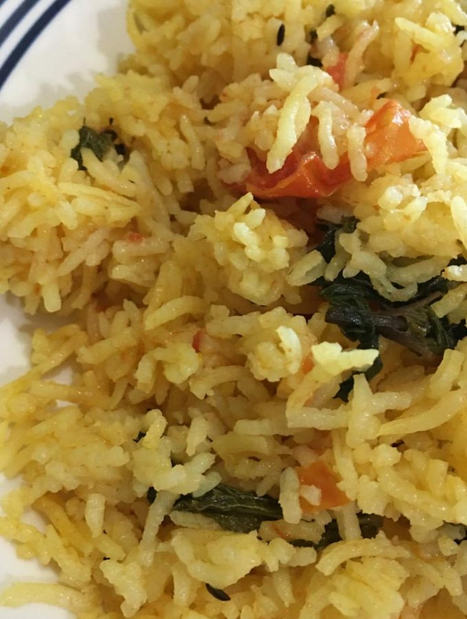 Tomato Rice Without Onion And Garlic Using Fresh Mint Leaves – How To Make Simple Tomato Rice