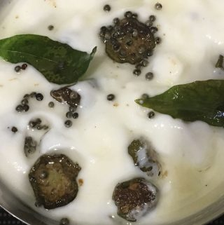 vendakka pachadi recipe without coconut