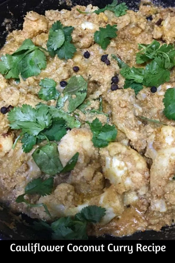 Cauliflower Coconut Curry Recipe