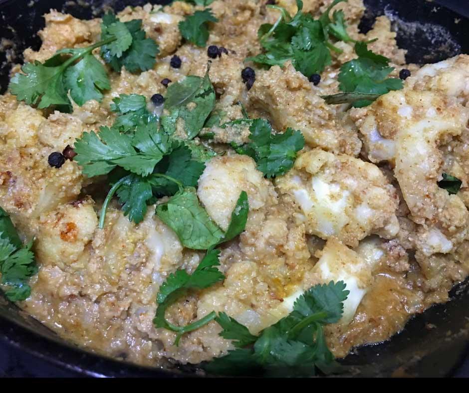 cauliflower coconut curry indian recipe