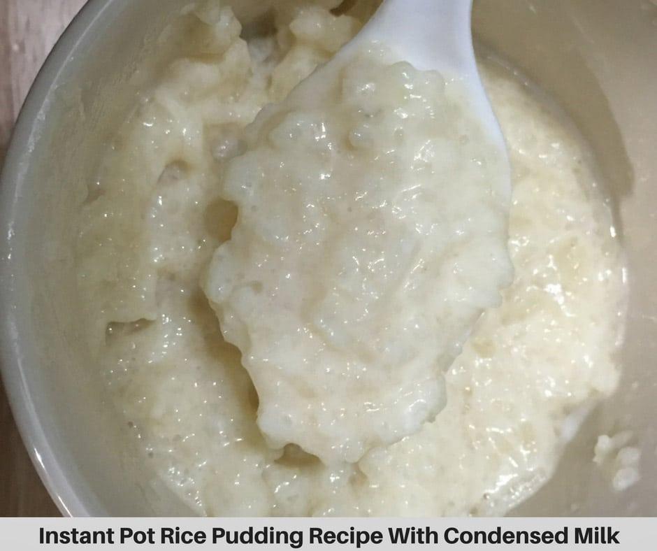 instant pot rice pudding recipe with condensed milk