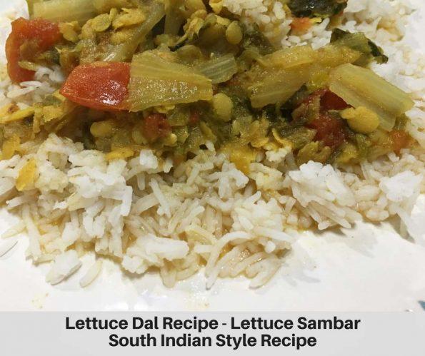 lettuce dal recipe